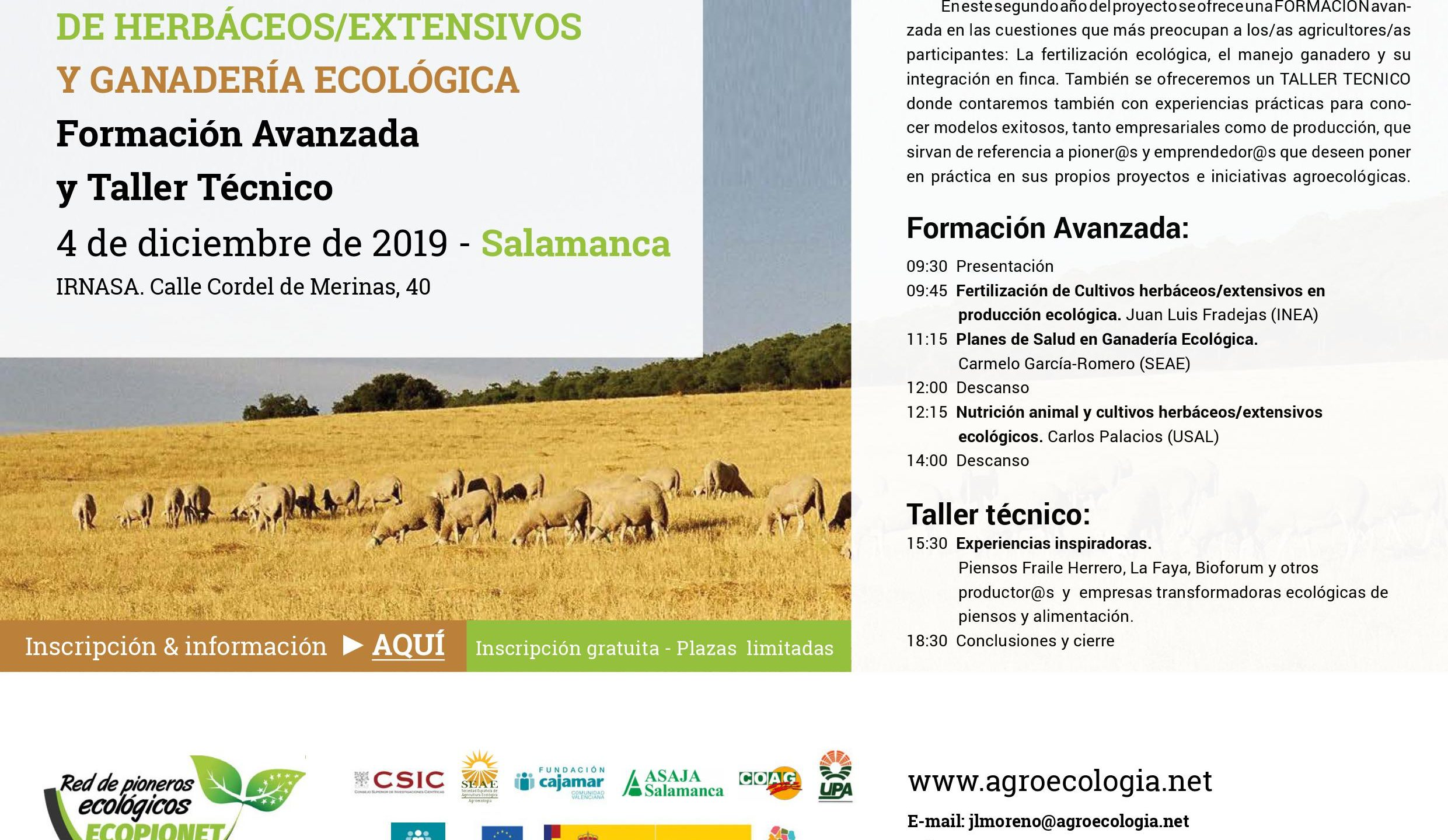 Formación Avanzada y Taller Técnico en Salamanca